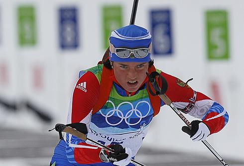 Светлана СЛЕПЦОВА на Олимпийских играх-2010 в Ванкувере. Фото Александра ВИЛЬФА