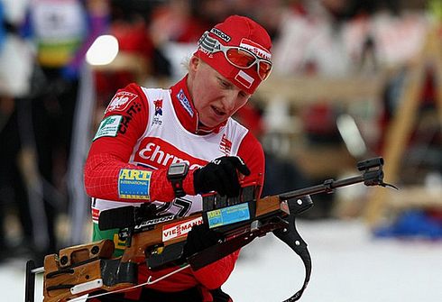 Кристина Палка. Спринт 7,5 км. Олимпиада Ванкувер - 2010г. Фото AFP
