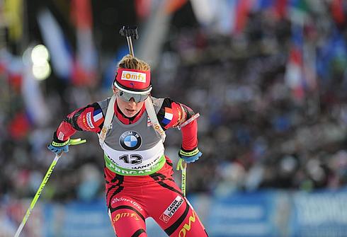 12 марта 2011 года. Чемпионат мира в Ханты-Мансийске. Масс-старт 12,5 км. Фото AFP