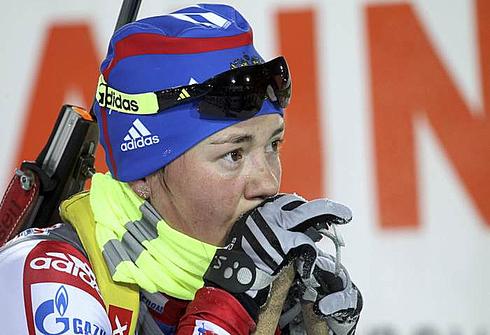 5 марта 2011 года. Чемпионат мира в Ханты-Мансийске. Индивидуальная гонка 7,5 км. Фото REUTERS