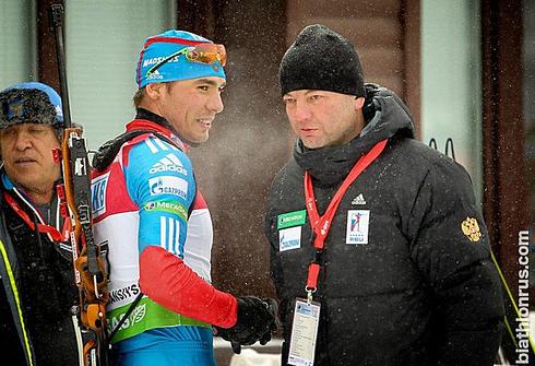 Антон ШИПУЛИН и Сергей Кущенко. Фото biathlonrus.com