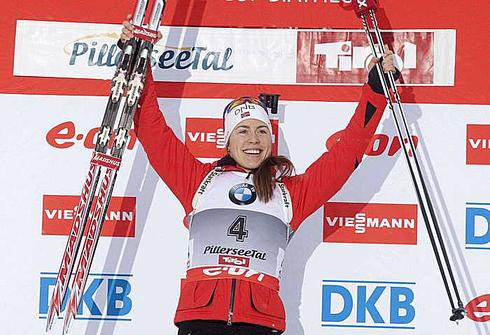 8 декабря 2012 года. Этап Кубка мира в Хохфильцене. Гонка преследования 10 км. Фото AFP