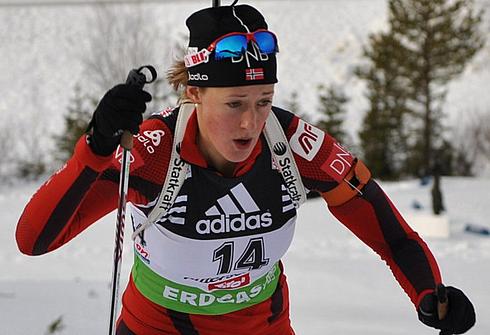 Фанни Хорн. Фото www.biathlon.com.ua