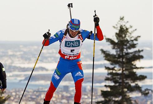 Александр ЛОГИНОВ на этапе Кубка мира в Холменколлене. Фото AFP