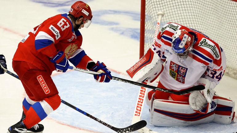Петр МРАЗЕК - одна из звезд сборной Чехии. Фото REUTERS