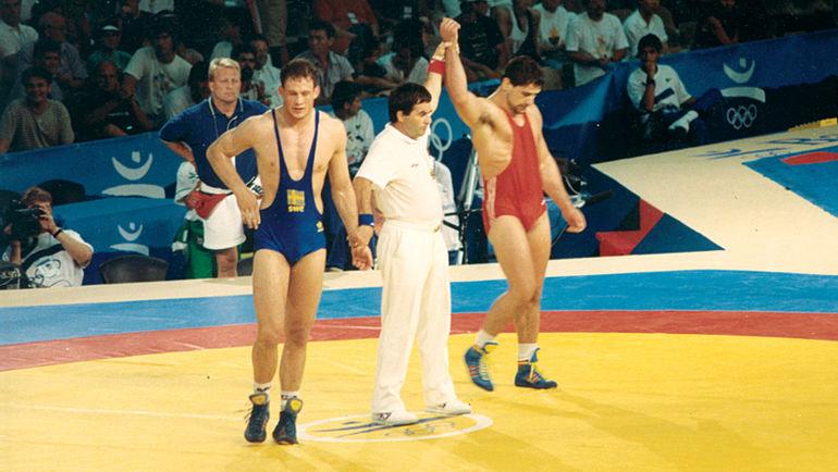 Гоги КОГУАШВИЛИ (справа) в Барселоне на Играх-1992. Фото Олимпийский комитет Грузии