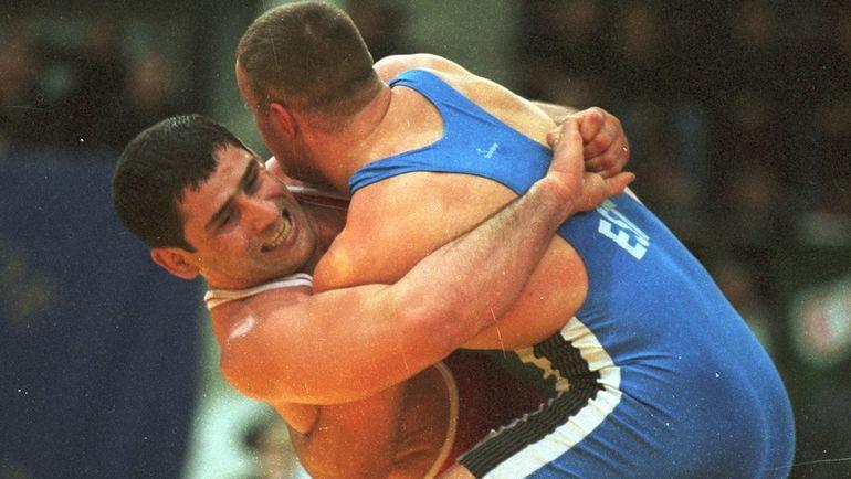 """Гоги КОГУАШВИЛИ (слева) в 2000 году. Фото Сергей КИВРИН, """"СЭ"""""""