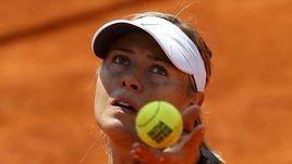 Мария ШАРАПОВА на тренировке в Мадриде.
