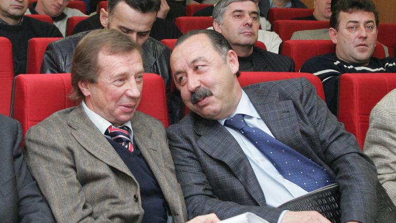 """Юрий СЕМИН (слева) и Валерий ГАЗЗАЕВ. Фото Александр ФЕДОРОВ, """"СЭ"""""""