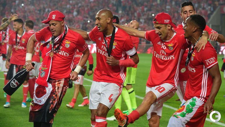 """Бенфика"" - чемпион Португалии-2016/17. Фото AFP"