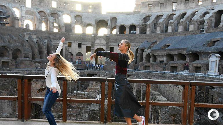 Сегодня. Рим. Мария ШАРАПОВА в Колизее. Фото AFP