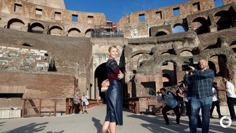 Сегодня. Рим. Мария ШАРАПОВА в Колизее. Фото REUTERS