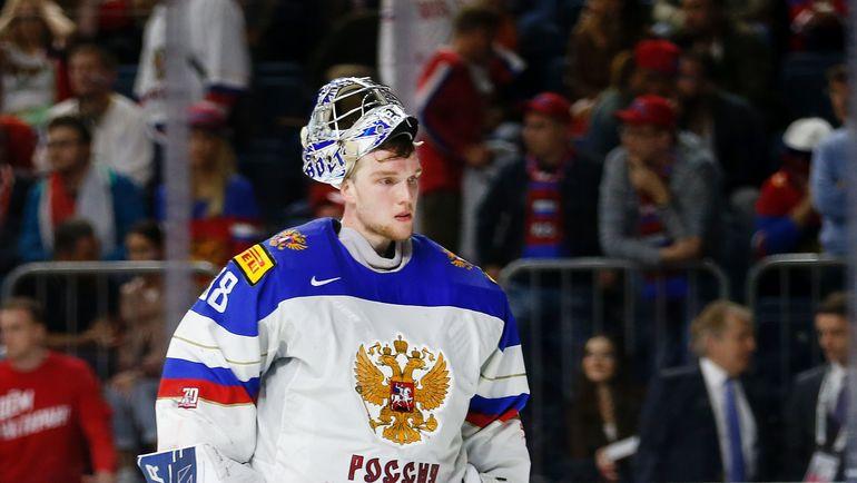 Вратарь сборной России Андрей ВАСИЛЕВСКИЙ - один из лучших на турнире. Фото REUTERS