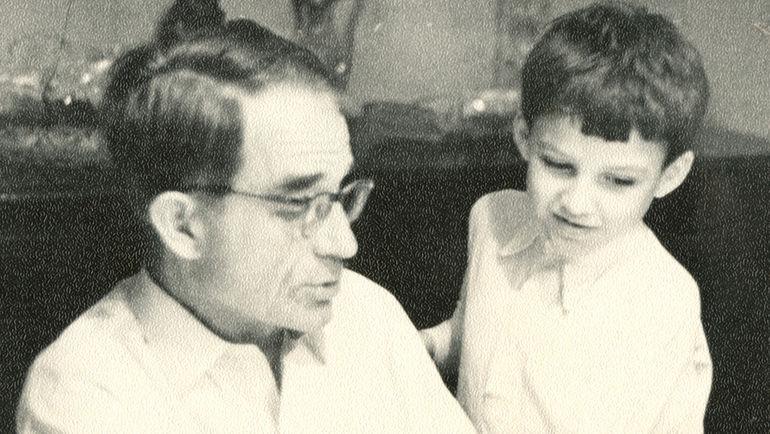 Николай Старостин с внуком Михаилом Шириняном