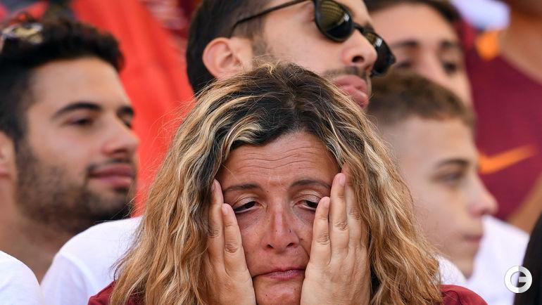"""Сегодня. Рим. """"Рома"""" – """"Джено"""" – 3:2. Эмоции болельщиков. Фото REUTERS"""
