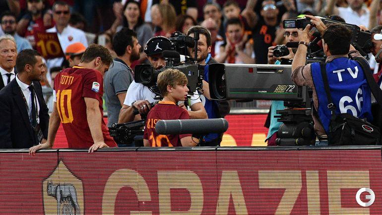 "Сегодня. Рим. ""Рома"" – ""Джено"" – 3:2. Франческо ТОТТИ. Фото AFP"