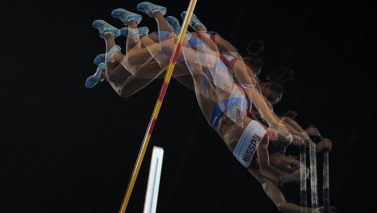 18 августа 2008 года. Пекин. Олимпиада. Елена ИСИНБАЕВА. Фото AFP