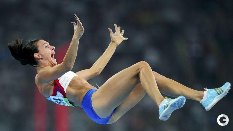 18 августа 2008 года. Пекин. Олимпиада. Елена ИСИНБАЕВА. Фото REUTERS
