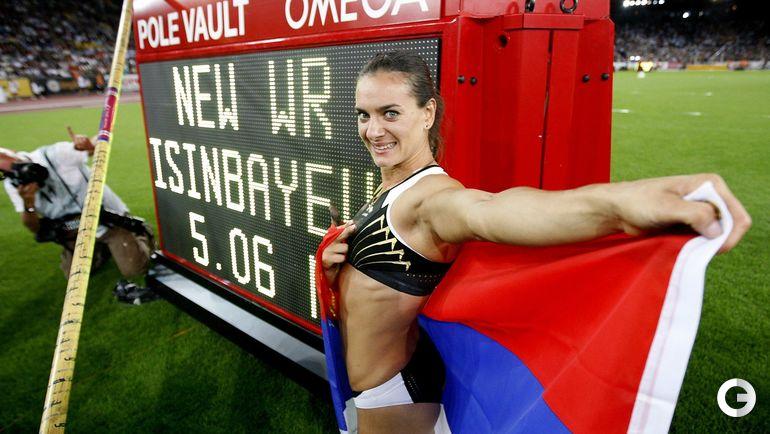 28 августа 2009 года. Цюрих. Елена ИСИНБАЕВА устанавливает мировой рекорд. Фото REUTERS