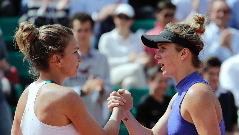 Среда. Париж. Симона ХАЛЕП (слева) и Элина СВИТОЛИНА. Фото REUTERS