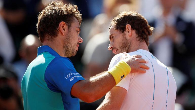 Сегодня. Париж. Стэн ВАВРИНКА (слева) обыграл Энди МАРРЭЯ и во второй раз за три года вышел в финал Roland Garros. Фото REUTERS