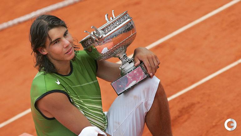 Рафаэль НАДАЛЬ - победитель Roland Garros-2005. Фото AFP