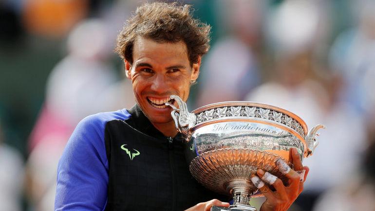Сегодня. Париж. Рафаэль НАДАЛЬ выиграл Roland Garros. Фото AFP