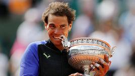Сегодня. Париж. Рафаэль НАДАЛЬ выиграл Roland Garros.
