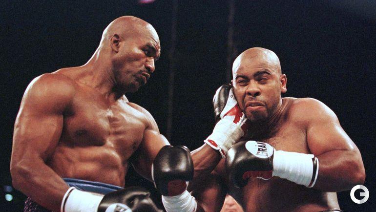 1998 год. Эвандер ХОЛИФИЛД (слева) и Вон БИН. Фото REUTERS