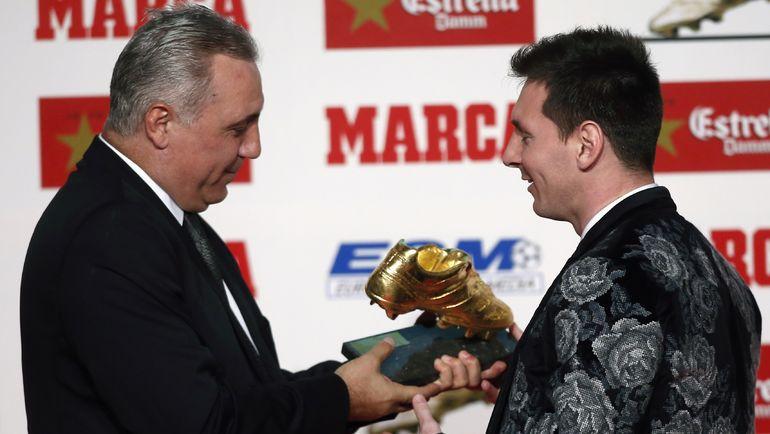 Христо СТОИЧКОВ (слева) и Лионель МЕССИ. Фото REUTERS