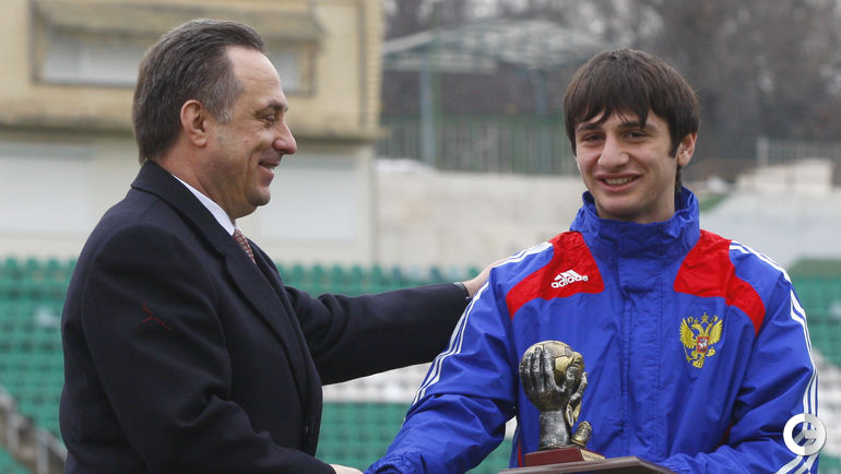 2009 год. Алан ДЗАГОЕВ (справа) и Виталий МУТКО. Фото Александр ВИЛЬФ