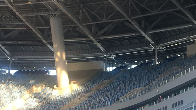 """Крыша стадиона """"Санкт-Петербург"""". Фото Гоша ЧЕРНОВ, """"СЭ"""""""