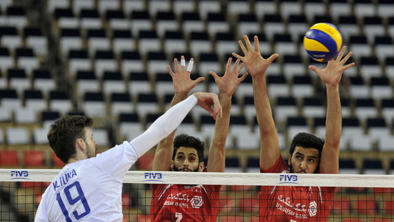 Сегодня. Катовице. Россия - Иран - 3:0. В атаке Егор КЛЮКА. Фото FIVB