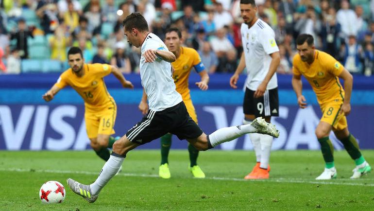 Сегодня. Сочи. Австралия - Германия - 2:3. Юлиан ДРАКСЛЕР забивает гол. Фото REUTERS