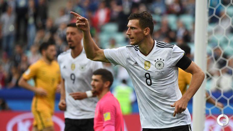 Сегодня. Сочи. Австралия - Германия - 2:3. Леон ГОРЕЦКА празднует гол. Фото AFP