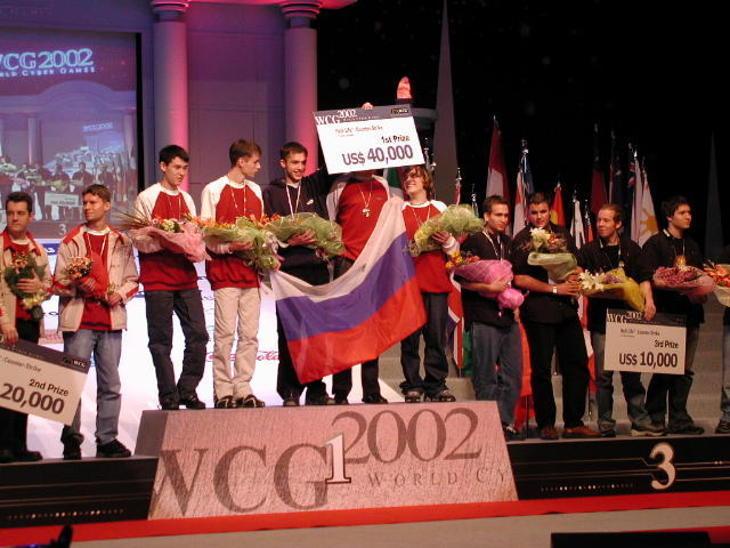 Сборная России по CS. Фото WCG 2002
