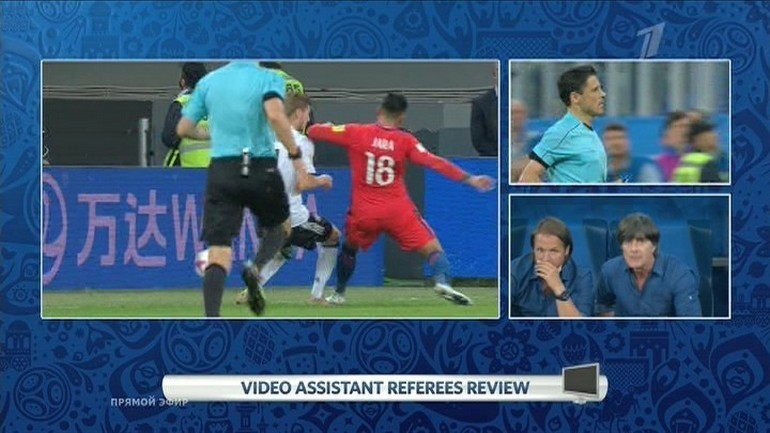 Неудаление Гонсало Хары в финале между Чили и Германией.