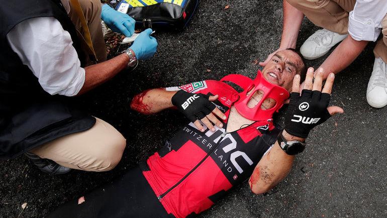 """Сегодня. Для Ричи ПОРТА """"Тур де Франс"""" завершился досрочно. Фото REUTERS"""