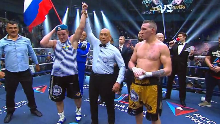 Денис Лебедев против Марка Флэнагана.