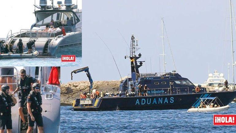 Обыск на яхте, арендованной Криштиану Роналду. Фото Hola!