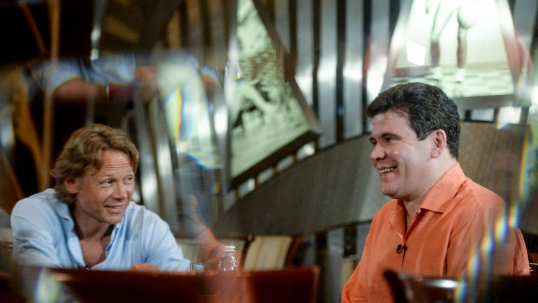 """Денис МАЦУЕВ (справа) и Валерий КАРПИН. Фото Дарья ИСАЕВА, """"СЭ"""""""