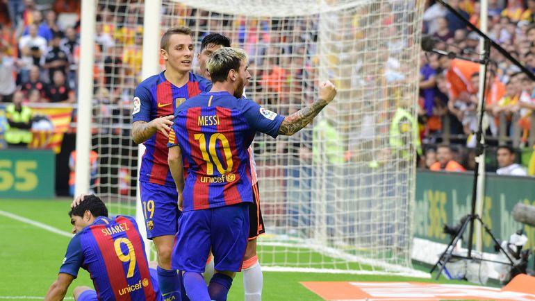 """Футболистов """"Барселоны"""" ждет горячий прием на """"Месталье"""". Фото AFP"""