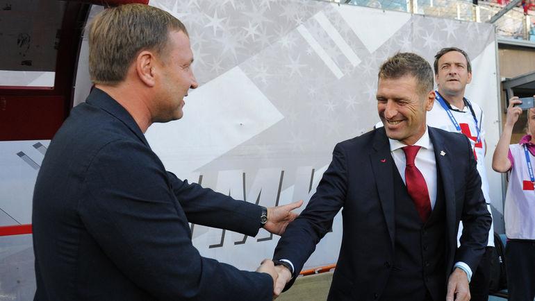 """Юрий КАЛИТВИНЦЕВ (слева) и Массимо КАРРЕРА. Фото Александр ФЕДОРОВ, """"СЭ"""""""