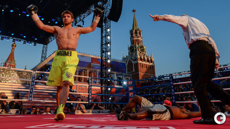"Сегодня. Москва. Вечер бокса на Красной площади. Фото Дарья ИСАЕВА, ""СЭ"""