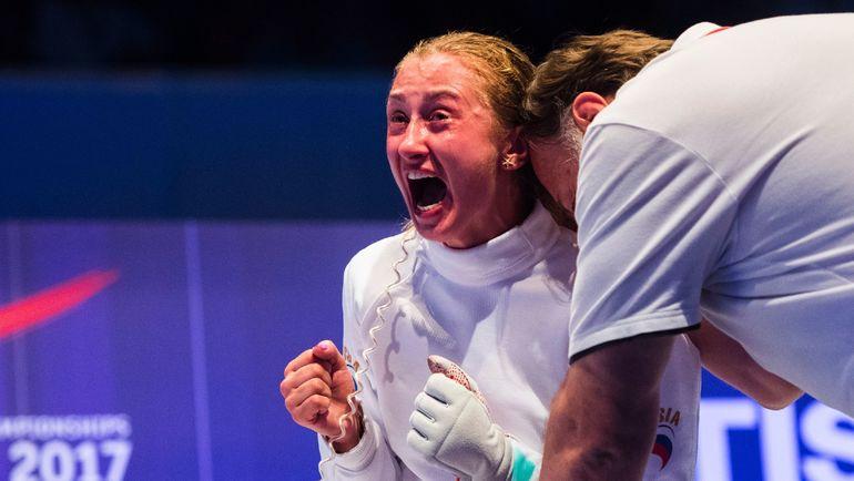 Сегодня. Лейпциг. Татьяна ГУДКОВА празднует победу в финале чемпионата мира. Фото AFP