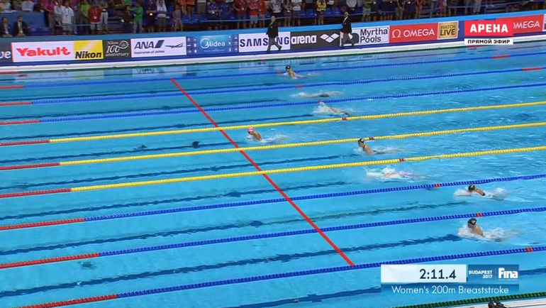 Юлия Ефимова взяла «золото» чемпионате мира на200м брассом