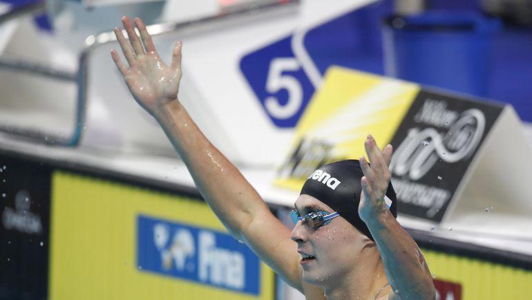 Антон ЧУПКОВ - первый у мужчин на 200 м брассом. Фото AFP