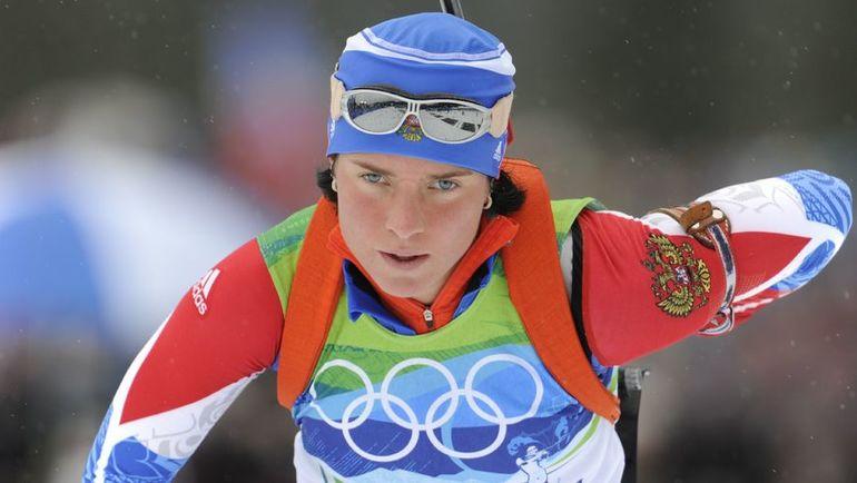 2010 год. Светлана СЛЕПЦОВА на Олимпиаде в Ванкувере.