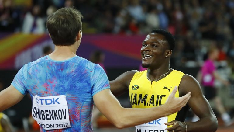 Сергей ШУБЕНКОВ и Омар МАКЛАУД после финального забега. Фото REUTERS
