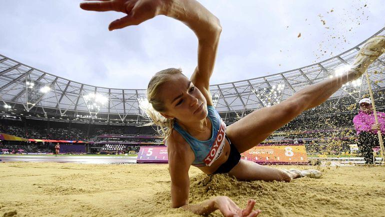 Вчера. Лондон. Дарья КЛИШИНА в лучшей попытке улетела на 6,66 м. Фото REUTERS
